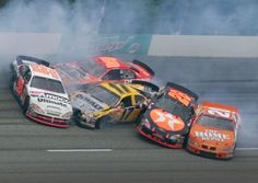 It has been awhile since we posted any videos or photos of NASCAR wrecks. We know what you people like. Check out this gallery of 25 nasty NASCAR crashes. Nascar Heat, Nascar Crash, Nascar Race Cars, Nascar Wrecks, Michael Waltrip, Martin Truex Jr, Father's Day, Car And Driver, Best Beer