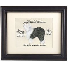 Our Old English Sheepdog Print was created by the dog-loving, husband and wife team of Vivienne and Sponge. The Old English Sheepdog is known for being faithful and exceptional with children.