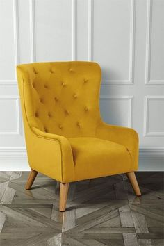 Dorchester Lounge Armchair Mustard Yellow – my furniture Chair like this new to grey sofa! Dorchester Lounge Armchair Mustard Yellow – my furniture Chair like this new to grey sofa! Living Room Sofa Design, Living Room Seating, Living Room Designs, Accent Chairs For Living Room, Yellow Armchair, Velvet Armchair, Modern Armchair, Modern Chairs, Mustard Chair
