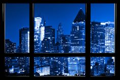 Window View, Special Series, Blue Night, Times Square, Manhattan, New York City, United States Wall Mural by Philippe Hugonnard at AllPosters.com