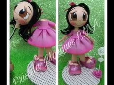 Caneta boneca por Priscila Marques E.V.A