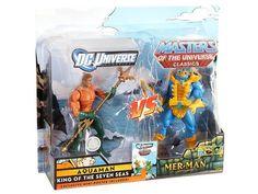 DC Universe Vs. Masters of the Universe Two-Packs Series 01 - Aquaman Vs. Mer-Man Exclusive - Masters of the Universe: Modern MOTU Classics