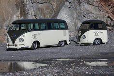 VW Type II Bus w/ Custom Trailer