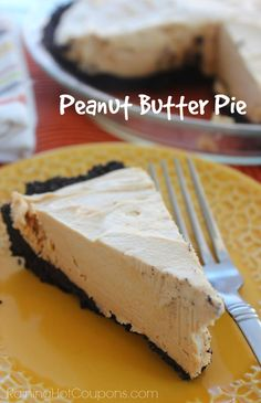 Peanut Butter Pie, Easy as cake!