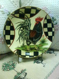 Rooster Decor Plate