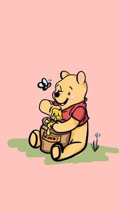 Winnie The Pooh Drawing, Winnie The Pooh Pictures, Winne The Pooh, Cute Winnie The Pooh, Winnie The Pooh Friends, Disney Phone Wallpaper, Cartoon Wallpaper Iphone, Cute Cartoon Wallpapers, Disney Collage