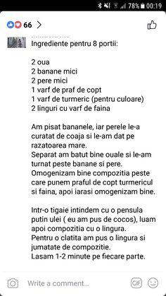 Clatite cu pere si banane