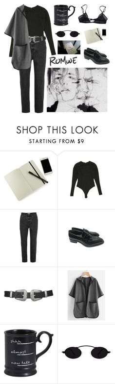 """Untitled #644"" by elle01-1 ❤ liked on Polyvore featuring Moleskine, Alaïa, Madewell, Jil Sander, Topshop, Pier 1 Imports and Bllack by Noir"