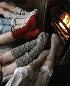 The ultimate winter delight. Good friends and cozy socks....Best of the best!