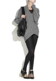 Oversized Knit Sweaters and Leggings