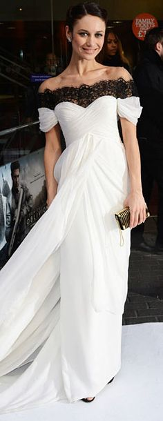 Black and White Gown | Olga Kurylenko @}-,-;-- CLICK THIS PIN if you want to learn how you can EARN MONEY while surfing on Pinterest