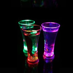 Funny Drinkware Rainbow Color Cup Flashing LED Cup Inductive Light Water Mug Cool Drinks Beer Wine Glasses Bar Decoration
