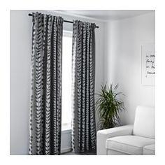 GUNNI Verduisteringsgordijnen, 1 paar, grijs - 145x300 cm - IKEA