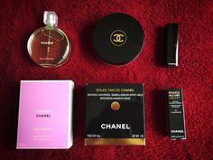 """#Chanel haul. Chanel Chance Eau Fraiche, Chanel Soleil Tan de Chanel Chanel, Rouge Allure Velvet in """"La L'Amoureuse 47""""."""