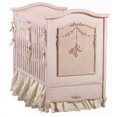 Bonne Nuit Cherubini Crib (Pink Versailles) and Luxury Baby Cribs in Baby Furniture Cottage Furniture, Nursery Furniture, Kids Furniture, Dream Furniture, Furniture Decor, Girl Nursery, Girl Room, Nursery Ideas, Baby Room