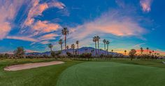 Tahquitz Golf Course in Palm Springs California. This shot is a panorama of 9 images shot with a 16mm lens.