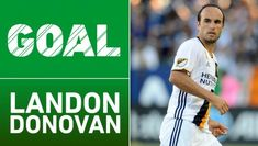 In his second appearance since returning to MLS, Landon Donovan salvaged a point for the LA Galaxy against Sporting KC. Landon Donovan, Dan Patrick, Felt, Goals, Baseball Cards, Play, Sayings, Ties, La Galaxy