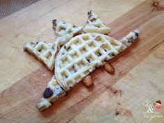 Dinosaur Waffles by tutusteaparties #Waffles #Kids #Dinosaur