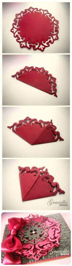 Graciellie Design - How to make a 3D medallion using Spellbinders Parisian Motifs