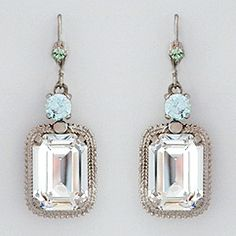 Rectangular Vintage Drop Earrings - Oscar de la Renta 2013 Bridal Collection