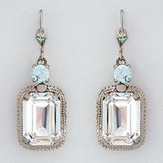 Rectangular Vintage Drop Earrings - Oscar de la Renta 2013 Bridal Collection