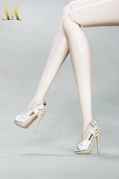 SK130 White Sandals High Heels Shoes for New Fashion Royalty body, Fr2