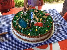 "Deco pastel cumpleaños tema ""la granja"""