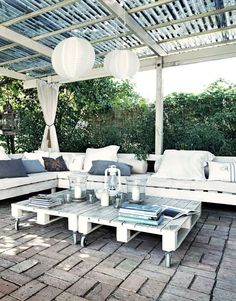 Faire un salon de jardin en palette | DIY meubles | Pinterest ...