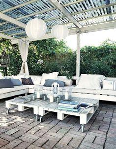 Balancelle pour salon de jardin en palette | Déco | Pinterest ...