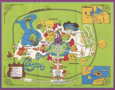 Disney world maps throughout the years disney pinterest walt lets stroll though the history of the magic kingdom by looking at magic kingdom maps walt disney world map gumiabroncs Image collections