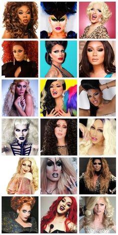 Rupaul's Drag Race all seasons top 3