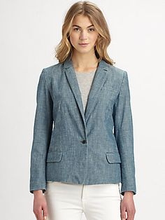 The perfect blazer for summer.  Marc by Marc Jacobs Corey Chambray Blazer