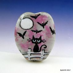 """NIGHTMARE ON CAT STREET"" byKAYO a Handmade Lampwork Art Glass Focal Bead SRA #Lampwork"