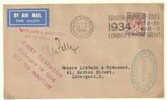 First Flight Cover Castle Bromwich to Hooton, for Liverpool, 1934