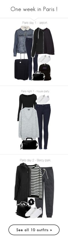 """""""One week in Paris !"""" by francesca-valentina-gagliardi ❤ liked on Polyvore featuring Topshop, Zara, Tripp, JanSport, H&M, Ilse Jacobsen Hornbaek, American Apparel, Uniqlo, Wet Seal and Forever 21"""