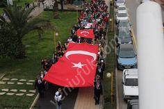 """Kdz.Ereğli'de Çanakkale Zaferinin 103.yıldönümü nedeniyle ,""""Çanakkale Zafer Yürüyüşü"""" düzenlendi."""