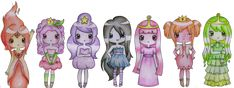 Adventure Time Princesses by *Beehive67 on deviantART So cute!