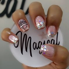 Nail Art Designs Videos, Short Nail Designs, Love Nails, Pretty Nails, Precious Nails, Tiffany Nails, French Manicure Nail Designs, Best Acrylic Nails, Super Nails