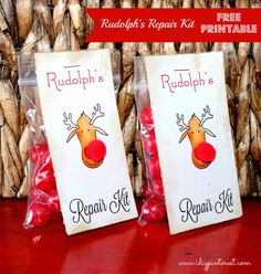 I Dig Pinterest: Rudolph's Repair Kit Free Printable Favor/Gift Tag