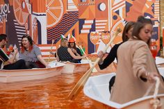 The Persuaders — Aperol - The Big Spritz Social Guerilla Marketing, Immersive Experience, Creative Advertising, Environment Design, Booth Design, Experiential, Store Design, Event Design, Kids Playing