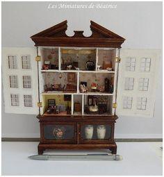 Petit cabinet à l'échelle 1/144 pour maisons de par Beatrice5804