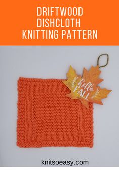 A quick & easy Knit So Easy dishcloth/washcloth pattern featuring an eye catching geometric design that is mostly knit stitches. Dishcloth Knitting Patterns, Knit Patterns, Cross Stitch Patterns, Knitted Washcloths, Knitted Hats, Crochet Cross, Knit Crochet, Fall Knitting, Knitting For Beginners