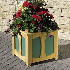 Raised Planter Box, Woodworking Plans, Outdoor, Planters, WOOD Issue May Intermediate Mailbox Planter, Planter Box Plans, Garden Planter Boxes, Wood Planter Box, Raised Planter, Outdoor Planters, Diy Planters, Woodworking Bench Plans, Woodworking Workshop