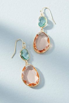 Anthropologie Sky &Peach Drop Earrings #ad
