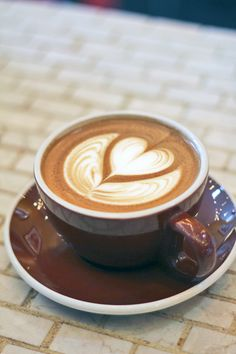 .Makes the latte taste even better when topped with a love symbol..