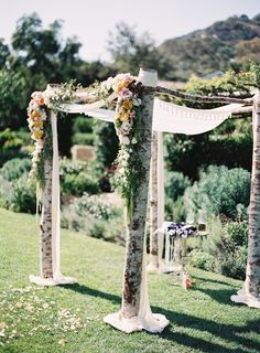 Romantic Wedding Setting! | Featured on #SMP: http://www.stylemepretty.com/2013/11/11/san-ysidro-ranch-wedding-from-patrick-moyer-photography | Photography: Patrick Moyer