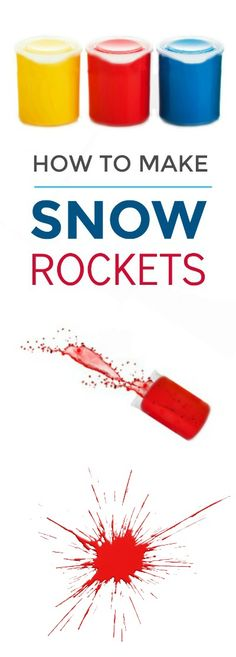 FUN KID PROJECT: MAKE SNOW ROCKETS! This is so cool! Now, it just needs to snow! #snowrockets #winterscienceforkids #wintercraftsforkids