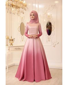 Ebruli Evening Dress – Powder – Best Of Likes Share Muslim Evening Dresses, Hijab Evening Dress, Muslim Dress, Pakistani Dresses, Abaya Fashion, Muslim Fashion, Fashion Dresses, Hijabi Gowns, Beautiful Dresses