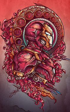 Project inspired in a mix of civil war, tattoo and art nouveau style