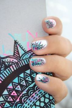 Having short nails is extremely practical. The problem is so many nail art and manicure designs that you'll find online Cute Nail Art, Cute Nails, Pretty Nails, Beautiful Nail Designs, Cute Nail Designs, Fancy Nails, Diy Nails, Nail Art Design 2017, Nail Polish